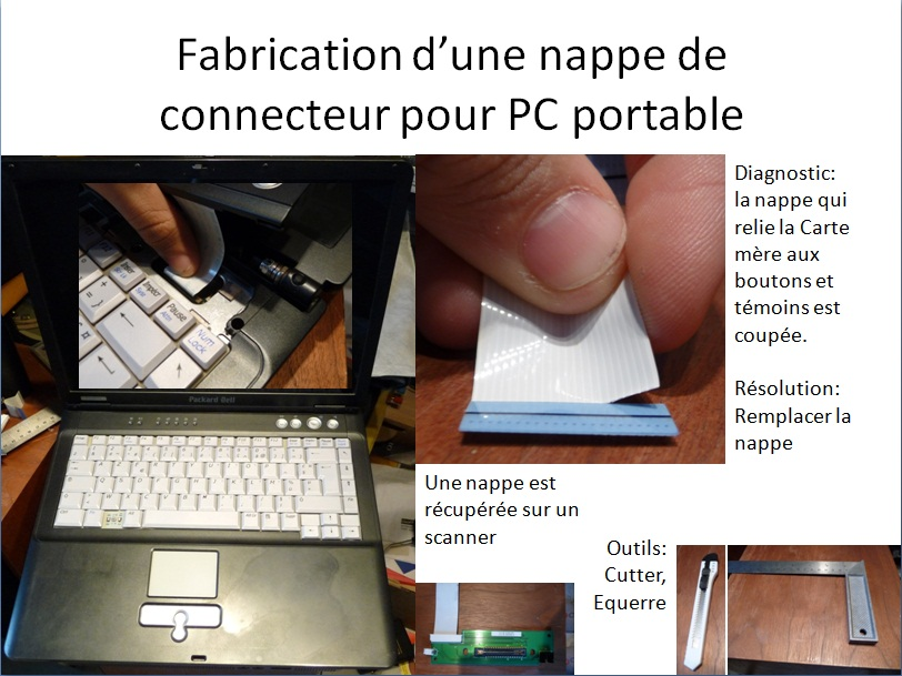 comment reparer nappe electronique
